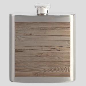 western country barn wood Flask