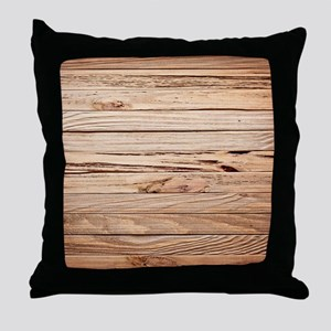 western country barn wood Throw Pillow