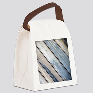 rustic primitive grey barn wood Canvas Lunch Bag