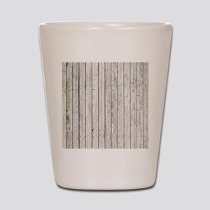 shabby chic white barn wood Shot Glass