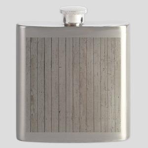 shabby chic white barn wood Flask
