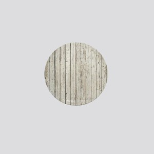 shabby chic white barn wood Mini Button