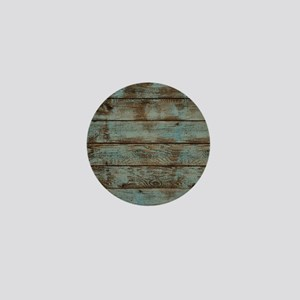 rustic western turquoise barn wood Mini Button