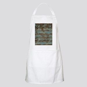 rustic western turquoise barn wood Apron