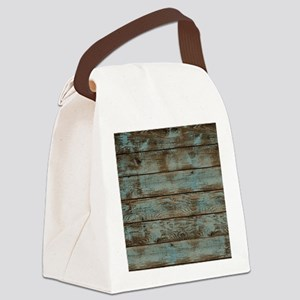 rustic western turquoise barn woo Canvas Lunch Bag
