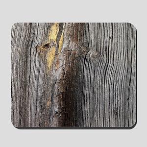 rustic primitive grey barn wood Mousepad