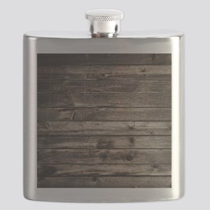 rustic primitive grey barn wood Flask