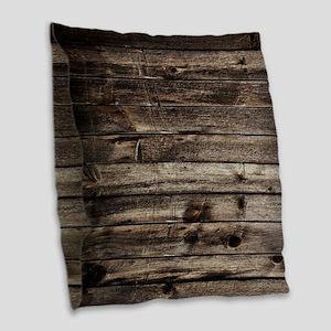 rustic primitive grey barn woo Burlap Throw Pillow