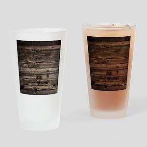 rustic primitive grey barn wood Drinking Glass