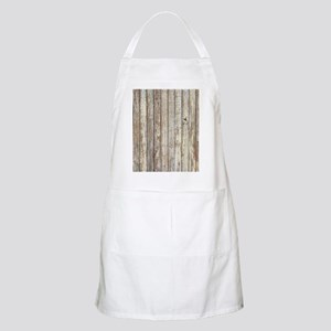 shabby chic white barn wood Apron
