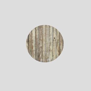 shabby chic white barn wood Mini Button