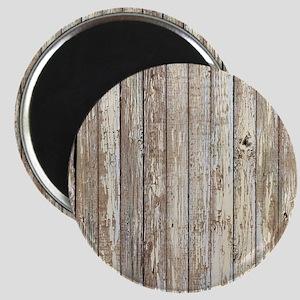 shabby chic white barn wood Magnet