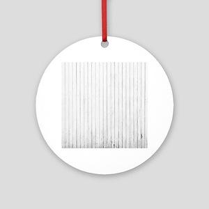 shabby chic white barn wood Ornament (Round)