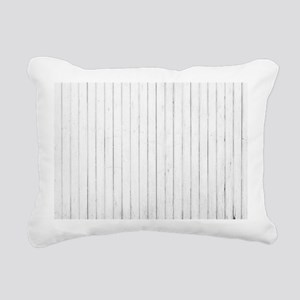 shabby chic white barn w Rectangular Canvas Pillow