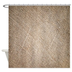Rustic Burlap Shower Curtains