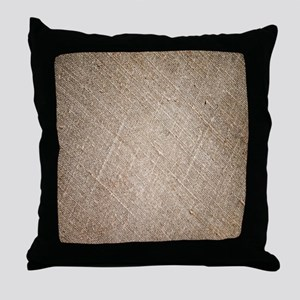 shabby chic vintage burlap Throw Pillow