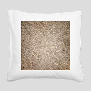 shabby chic vintage burlap Square Canvas Pillow