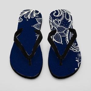 d0919416ce75 Navy Blue Flip Flops - CafePress