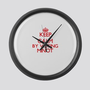 Keep calm by visiting Minot Massa Large Wall Clock