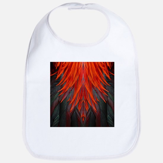 Abstract Feathers Cotton Baby Bib