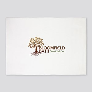 Bloomfield Bath Logo 5'x7'Area Rug