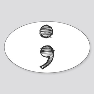 Semi Colon (Handdrawn) Sticker