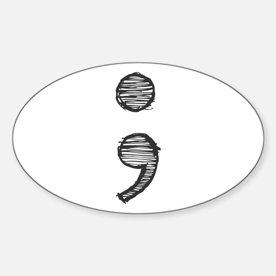 Semi Colon (Handdrawn) Decal