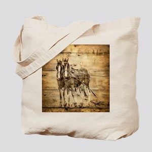 western country farm horse Tote Bag