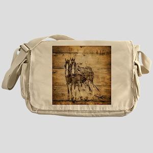 western country farm horse Messenger Bag
