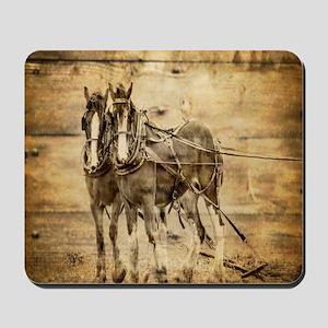 western country farm horse Mousepad
