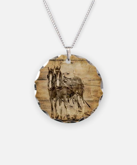 western country farm horse Necklace