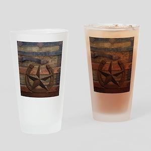 western horseshoe texas star Drinking Glass