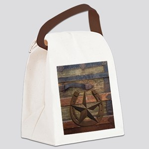 western horseshoe texas star Canvas Lunch Bag