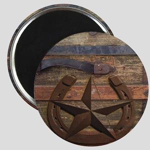 western horseshoe texas star Magnet