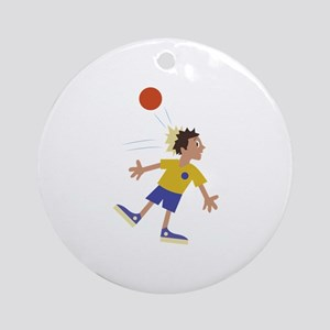 Dodgeball Kid Ornament (Round)