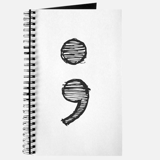 Semi Colon (Handdrawn) Journal