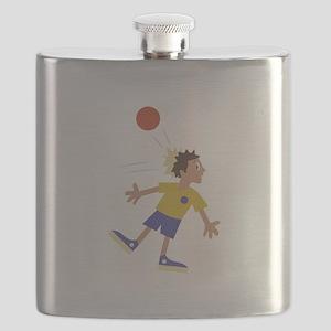 Dodgeball Kid Flask