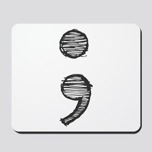 Semi Colon (Handdrawn) Mousepad