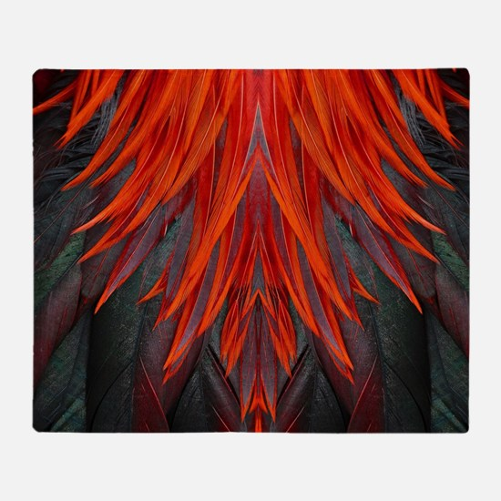 Abstract Feathers Throw Blanket