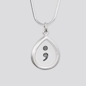 Semi Colon (Handdrawn) Necklaces