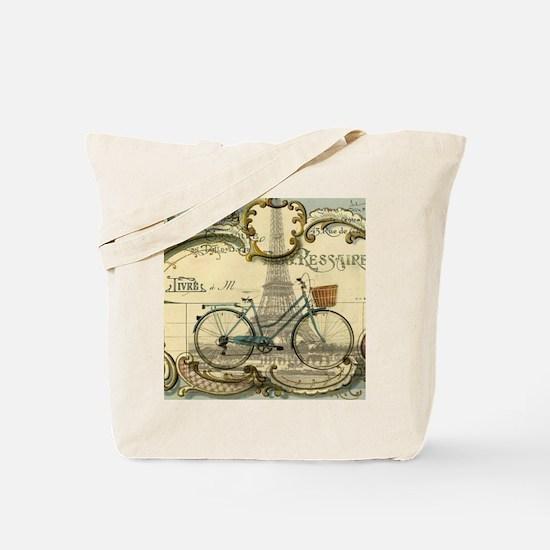 eiffel tower paris bike Tote Bag