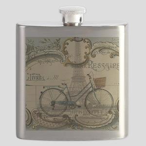eiffel tower paris bike Flask