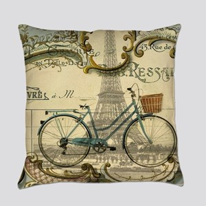 eiffel tower paris bike Everyday Pillow