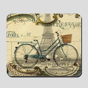 eiffel tower paris bike Mousepad