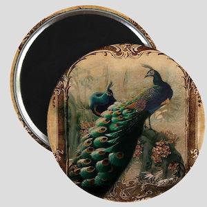 romantic paris vintage peacock Magnet