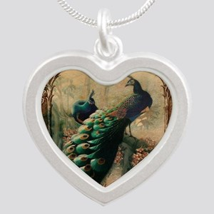 romantic paris vintage peaco Silver Heart Necklace