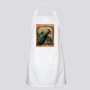 romantic paris vintage peacock Apron