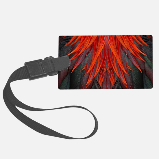 Abstract Feathers Large Luggage Tag