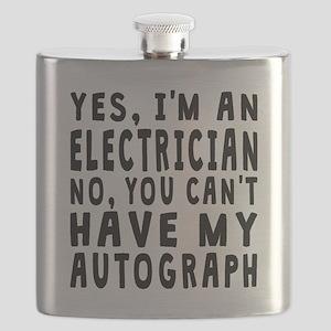 Electrician Autograph Flask