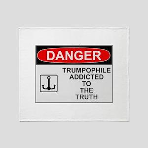 Danger Trumpophile Throw Blanket